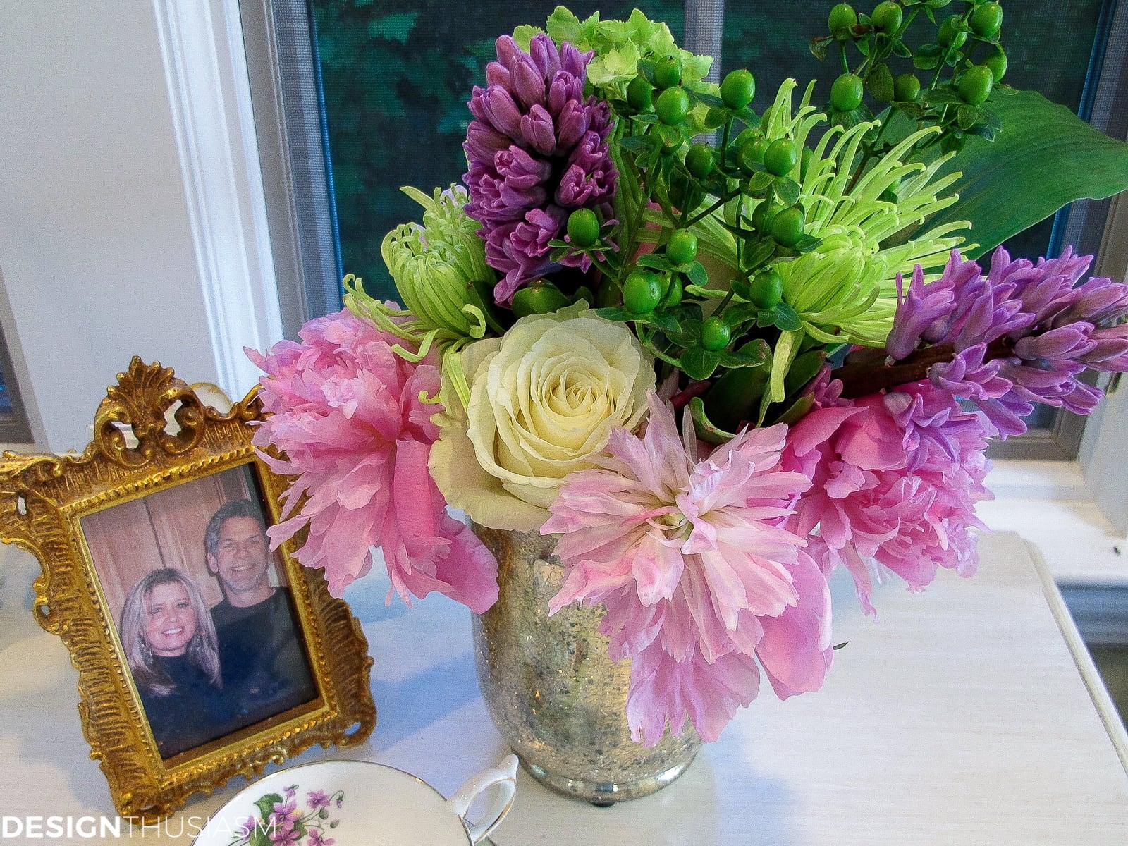 DIY flower arrangements - designthusiasm.com