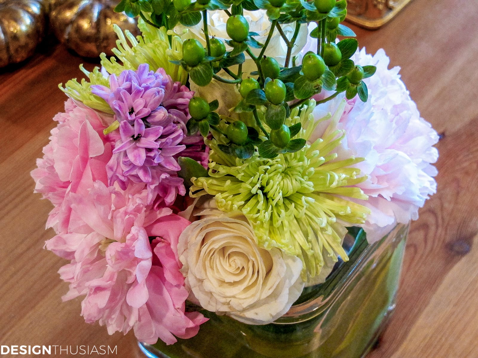 DIY flower arrangements - designthusiasm.com