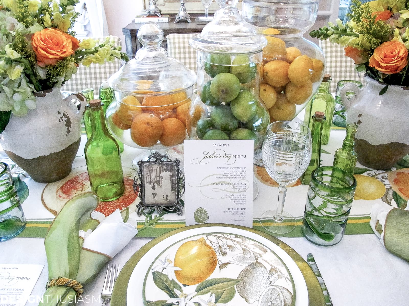 Father S Day Decorations A Citrus Summer Tablescape