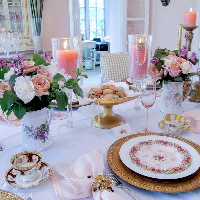 Mother's Day Decoration Ideas: Mixing Vintage China Patterns