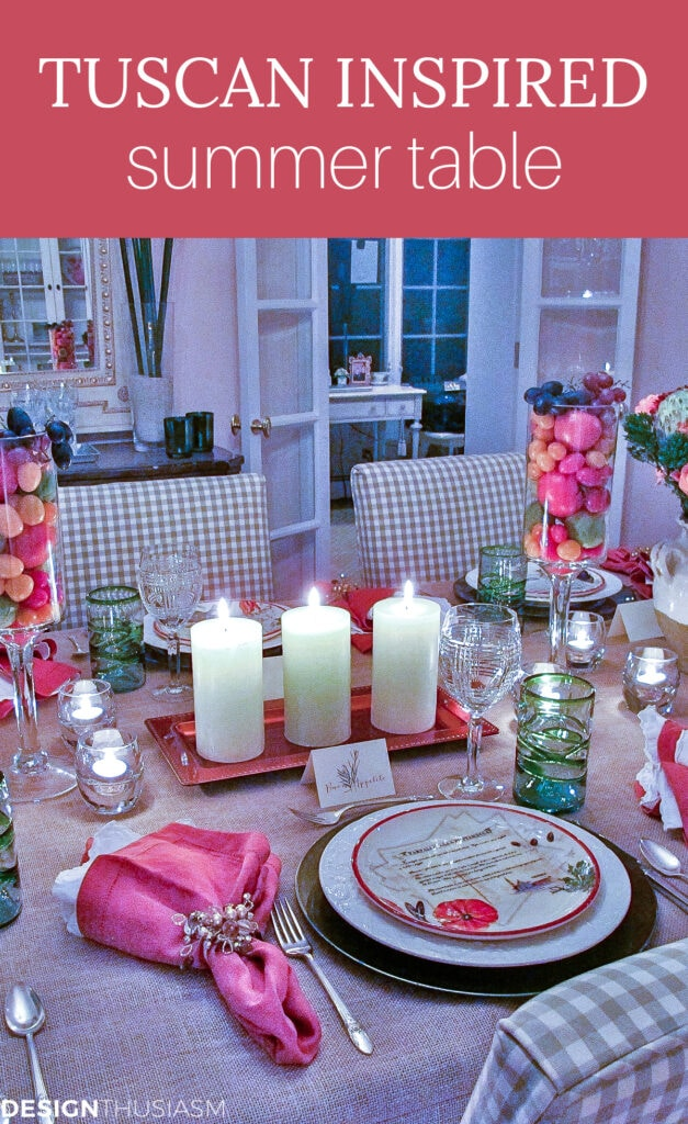 Tuscan themed table