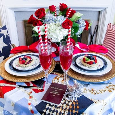 Patriotic Decorations: Elegant Fourth of July Table Decor Ideas