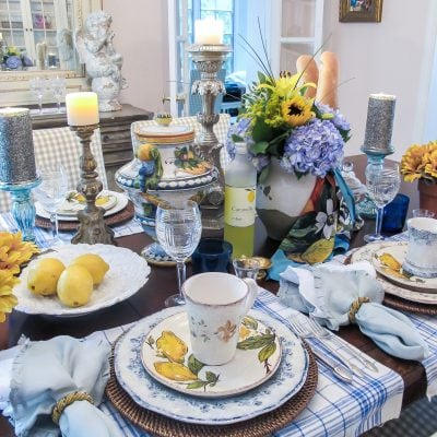 Table Decor: Amalfi Inspired Italian Pottery Tablescape
