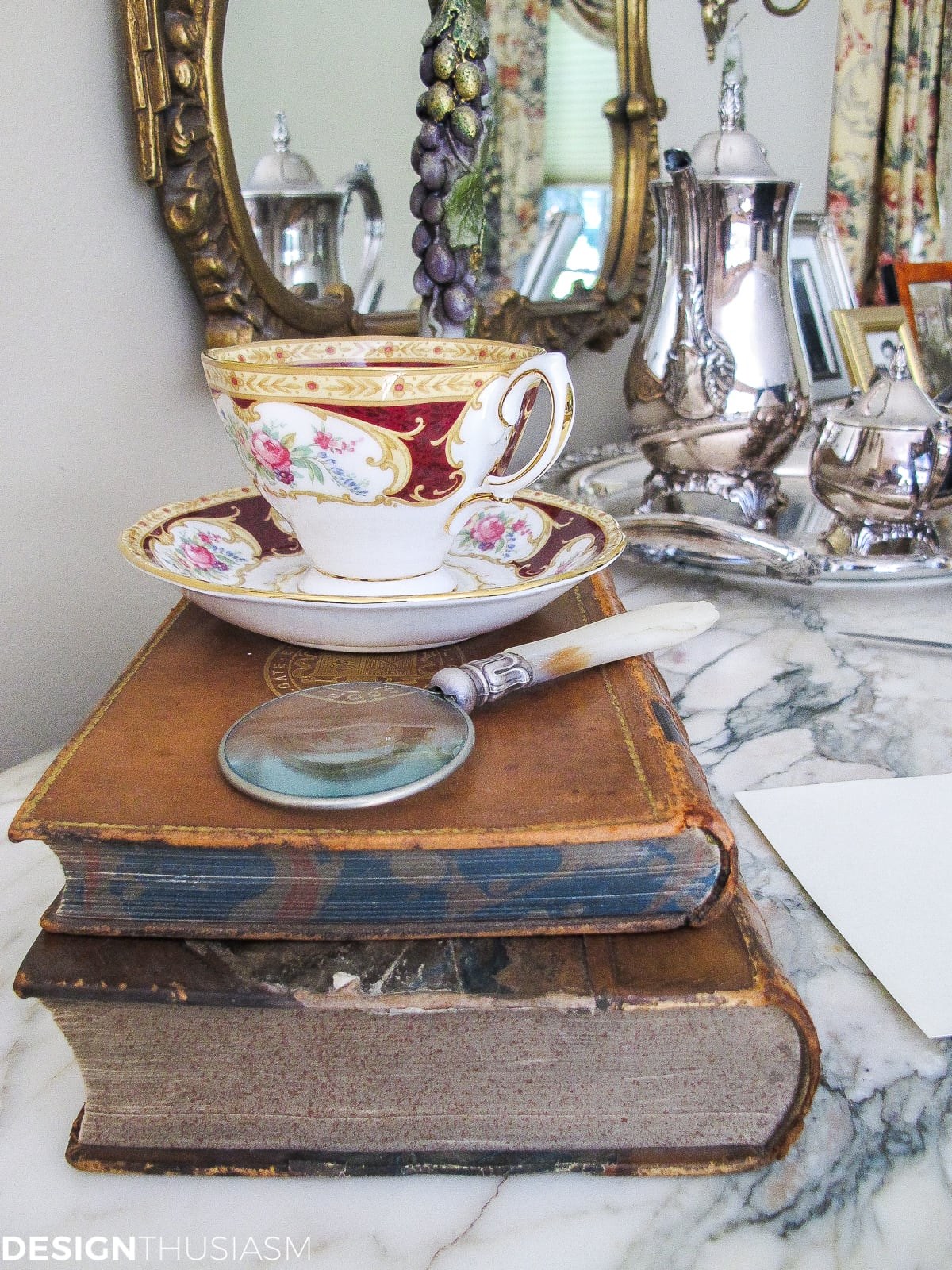 Decorating With Books: How to Use Vintage Books in Your Home