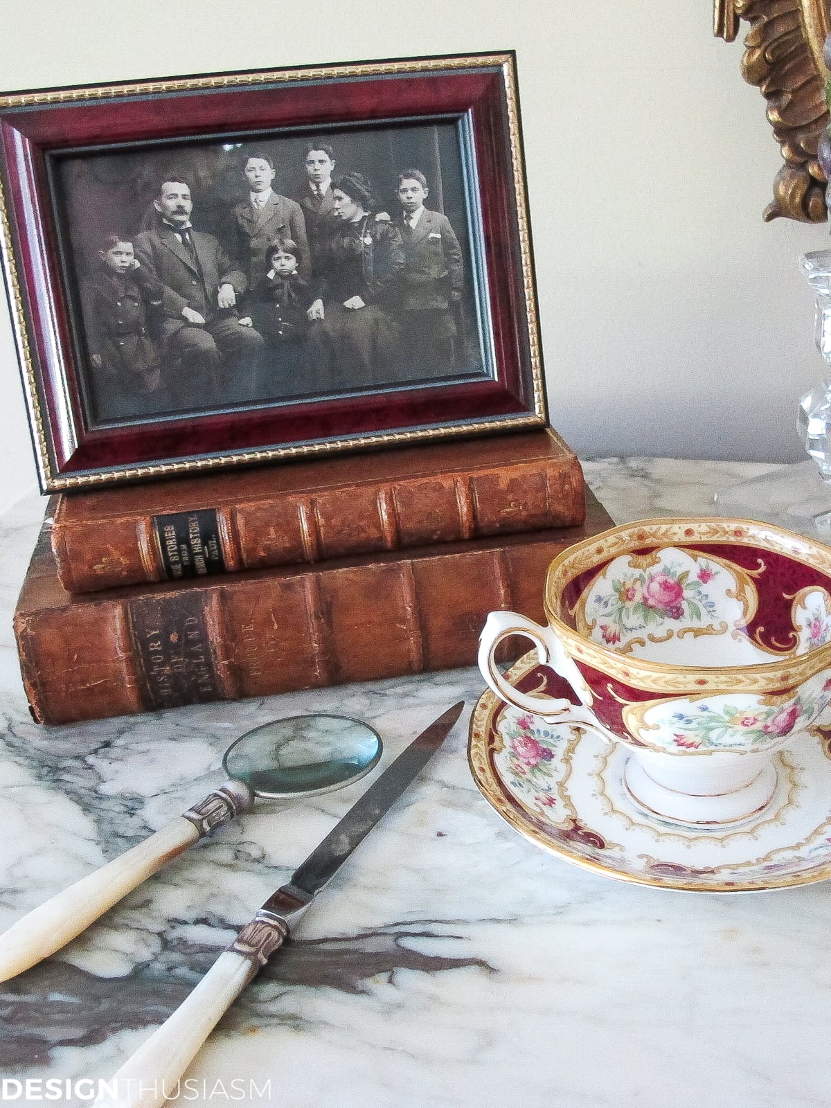 Decorating With Books | How to Use Vintage Books in Your Home - designthusiasm.com