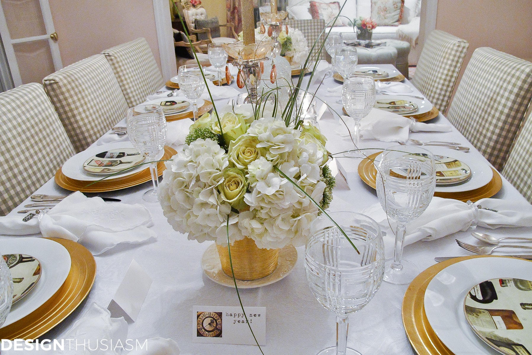 new years eve party themes tablescape with timepieces designthusiasmcom
