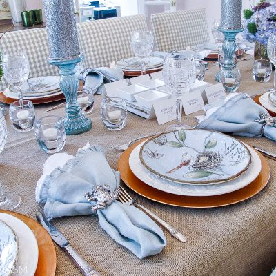Spring Plates: A Nature Inspired Rustic Table Setting