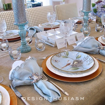 Springy Seder – A Nature Inspired Spring Table Setting
