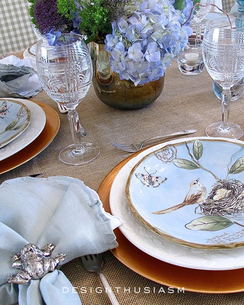 Springy Seder | A Nature Inspired Table Setting | Designthusiasm.com