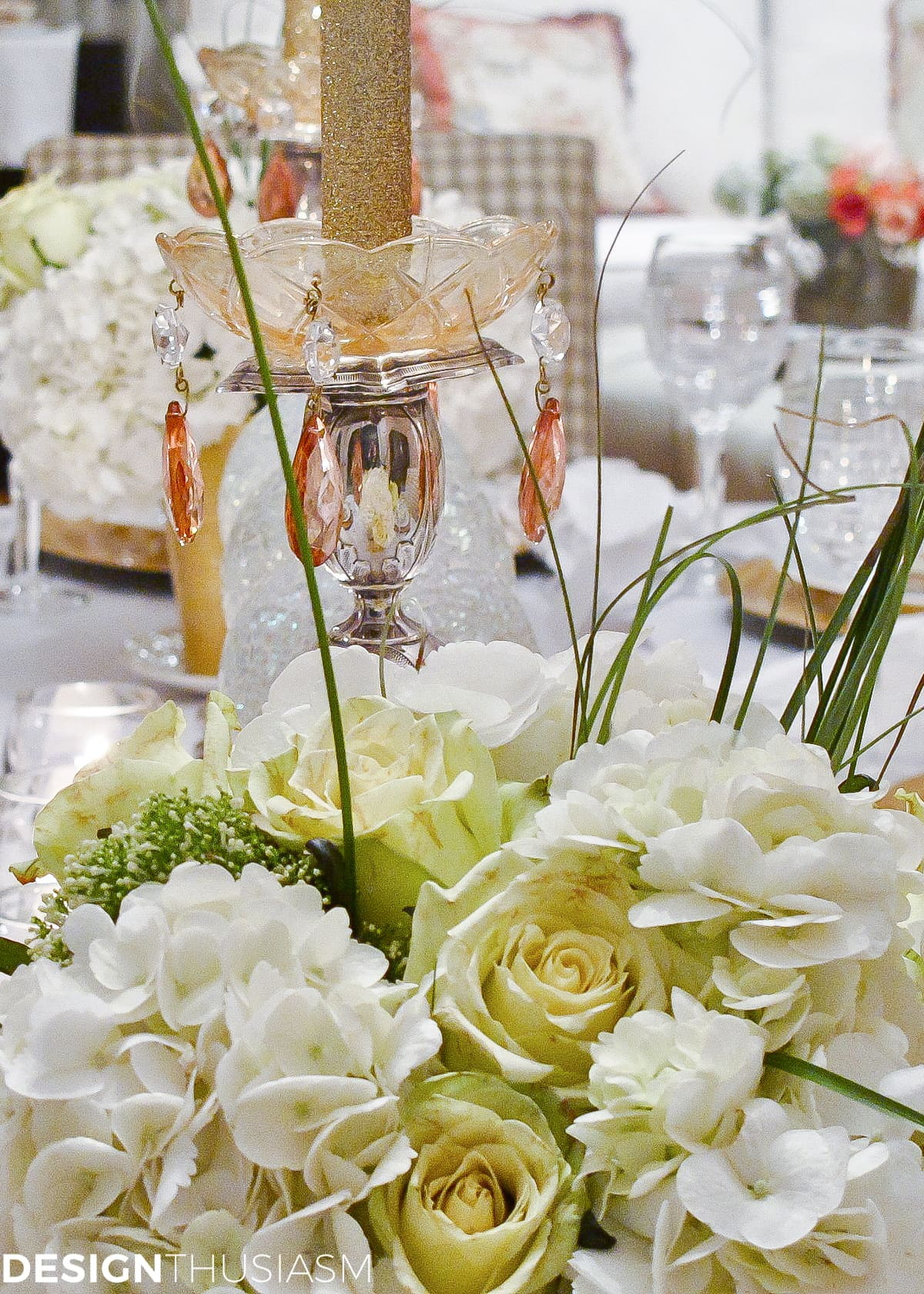 New Years Party Themes: Tablescape with Timepieces