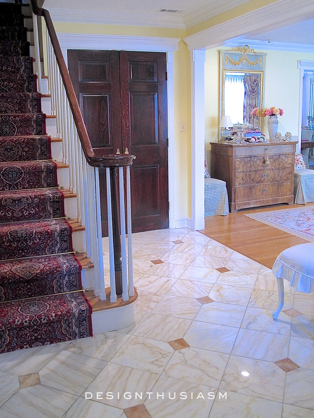 Entry Foyer   Family House Tour   Designthusiasm.com