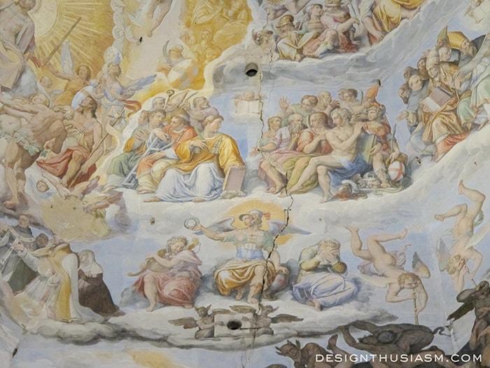 Vasari's fresco - Florence, Italy