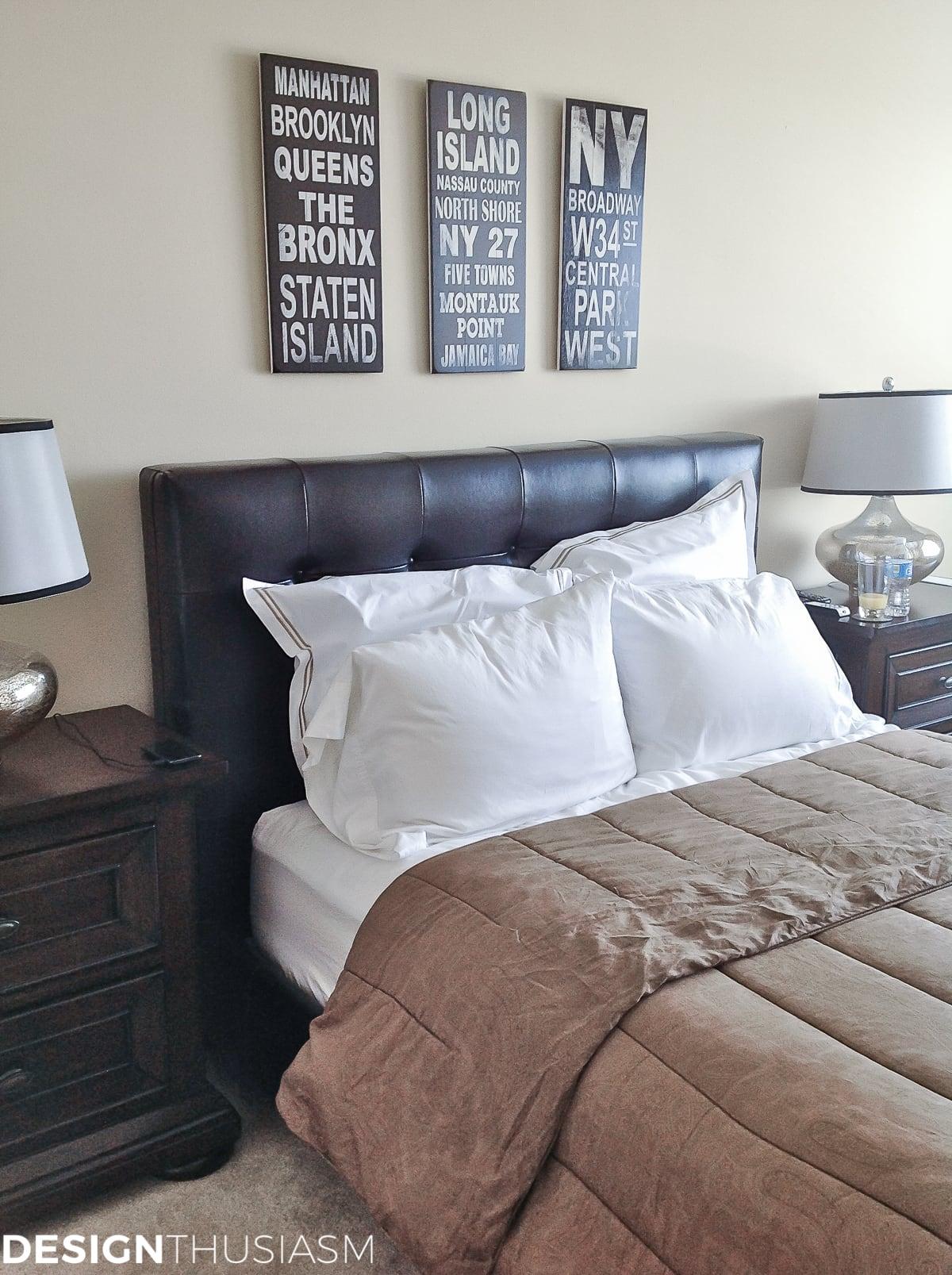 Bachelor Pad Decor: Mens Bedroom Ideas | Designthusiasm.com