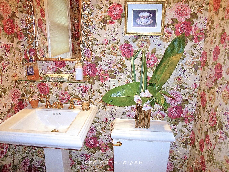 Powder Room   Family House Tour   Designthusiasm.com