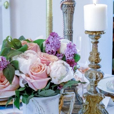 Vintage Party Ideas: Mixing Antique China in a Tablescape