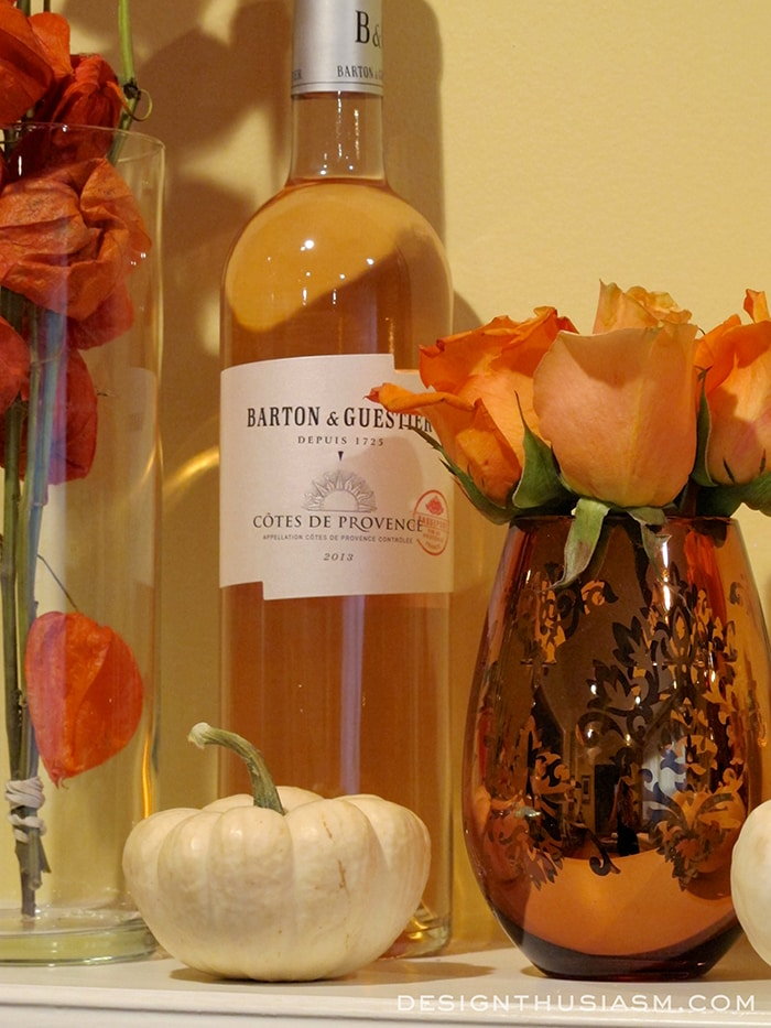 Fall Mantel with Autumn Colors