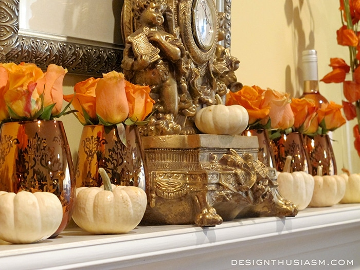 Simply Elegant Fall Mantel