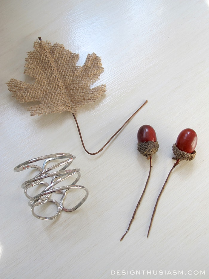 DIY Acorn & Leaf Napkin Rings