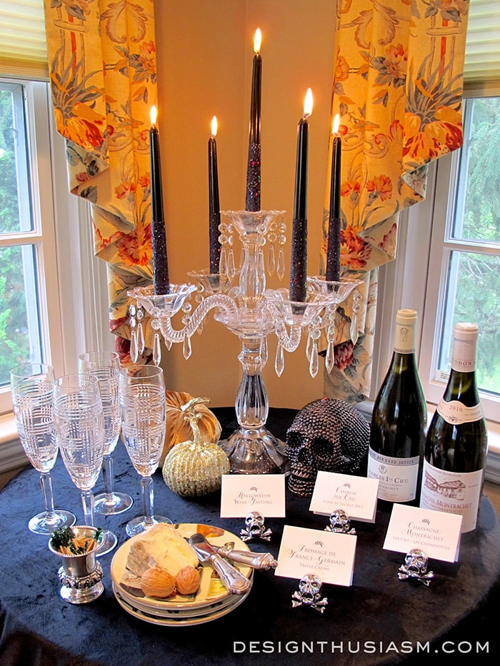 Halloween Wine Tasting Tabletop