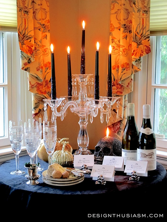 Halloween Wine Tasting Tablescape