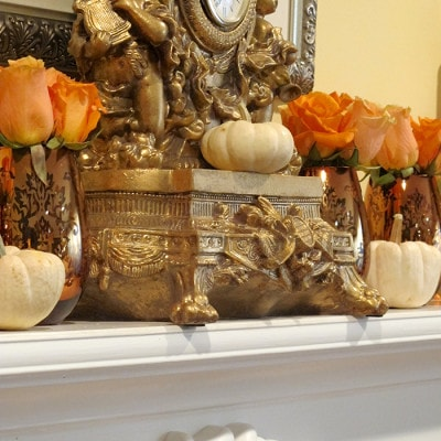 3 Steps to a Simple but Elegant Fall Mantel