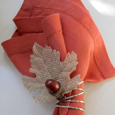 DIY Acorn and Leaf Napkin Rings