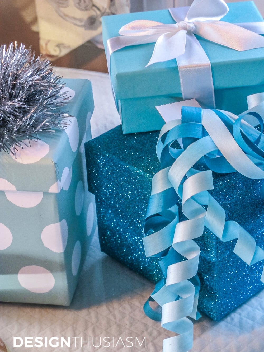 Elegant Hanukkah Decor Using Tiffany Blue | Designthusiasm.com