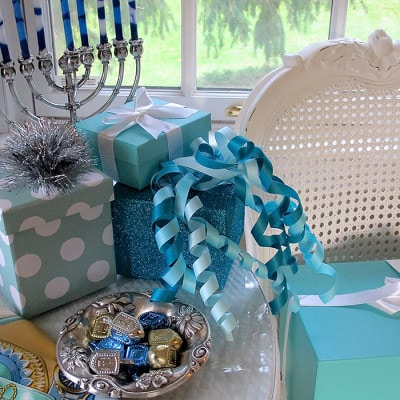 Elegant Hanukkah Decor Using Tiffany Blue