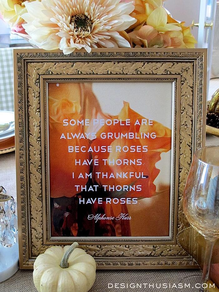 """I Am Thankful"" Printable"