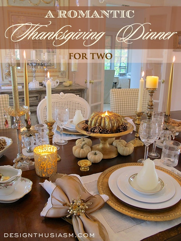 Romantic thanksgiving dinner for Elegant table setting for thanksgiving