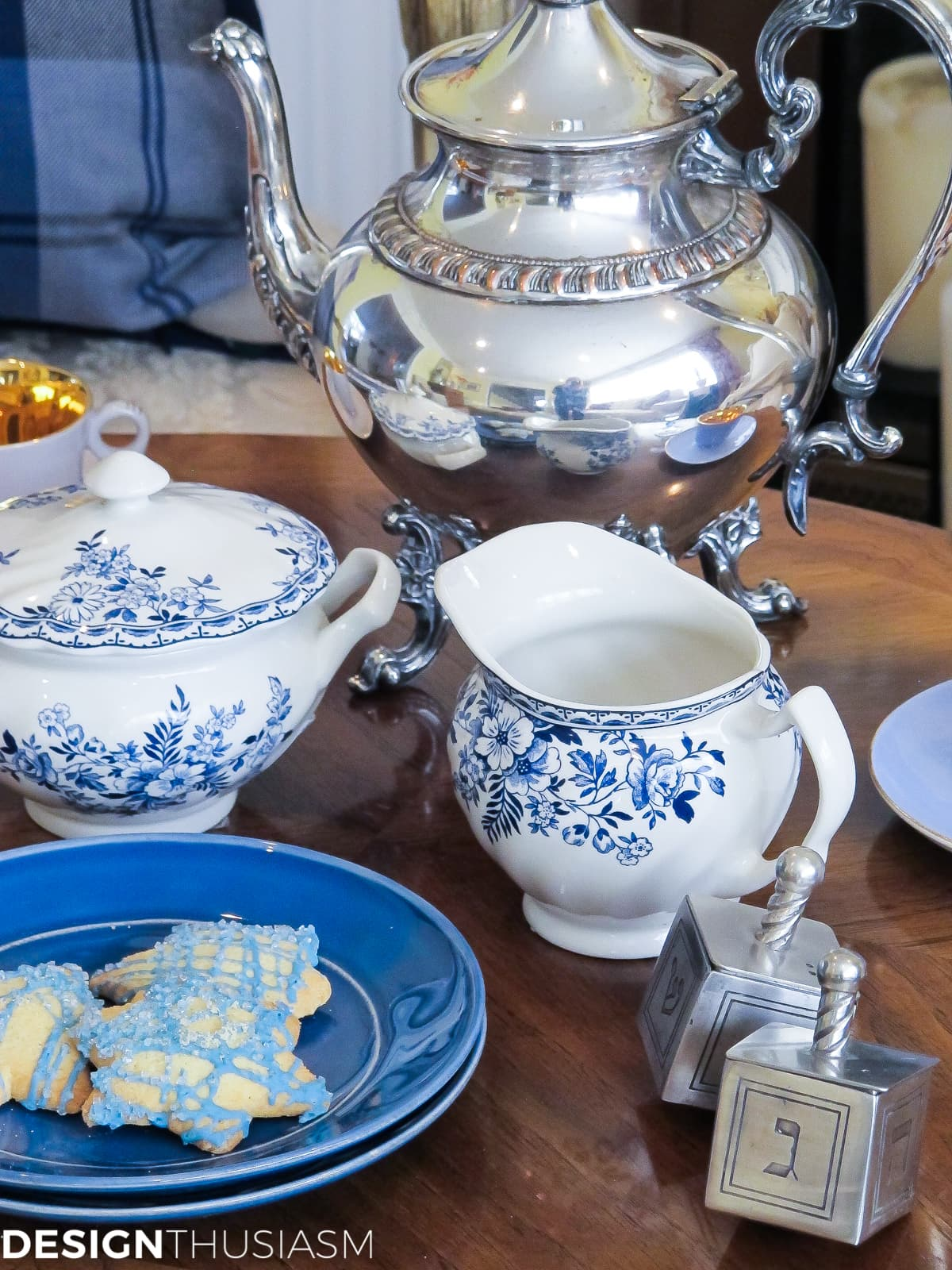 Country French Hanukkah Tea | Designthusiasm.com
