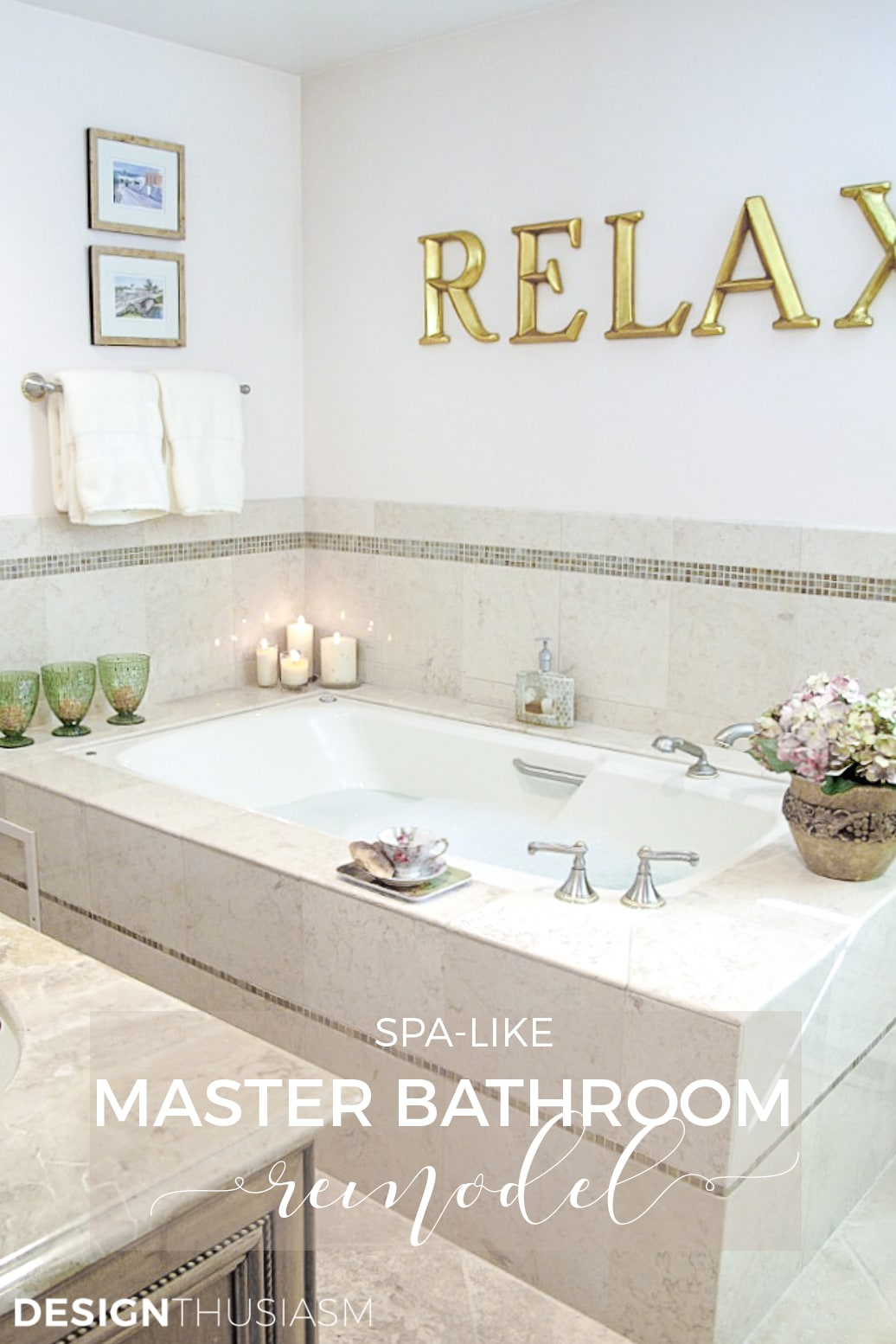master bath remodel spa tub