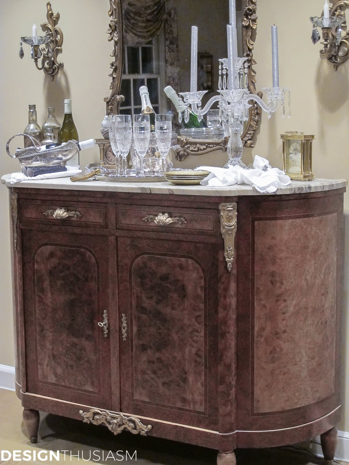 ideas for new years eve vintage french serving bar
