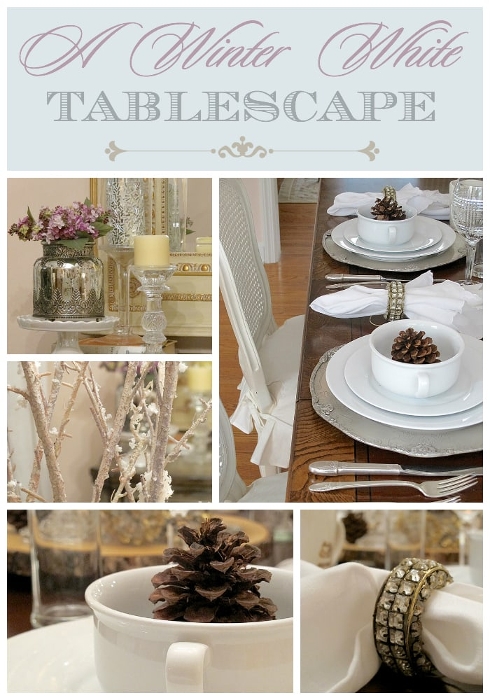 A Winter White Tablescape