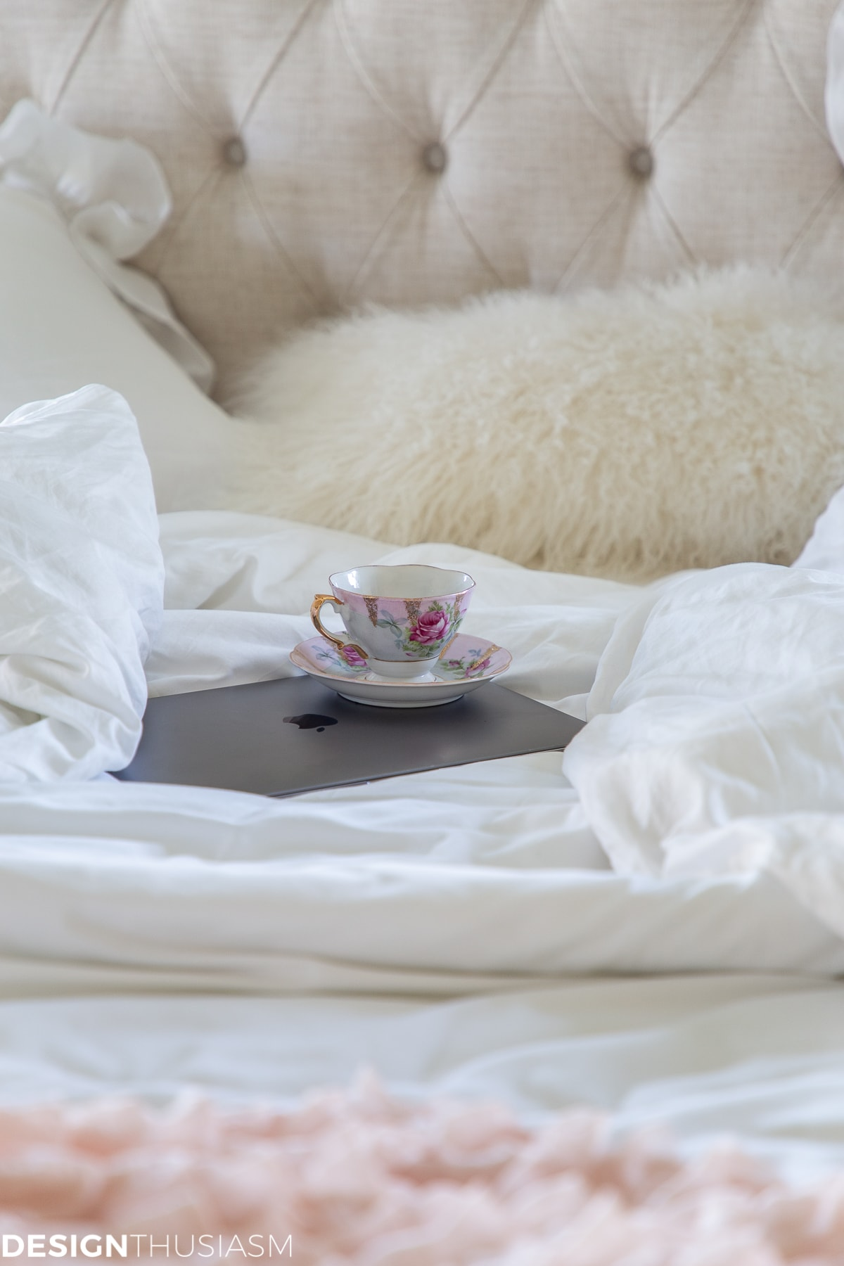 fur pillow teacup and other winter decor ideas
