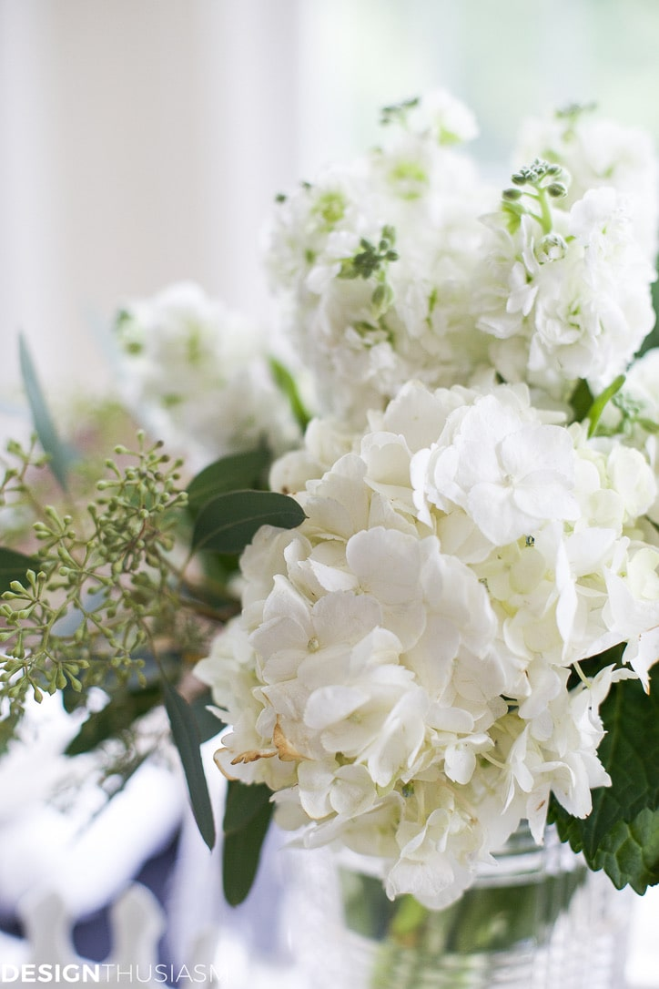 winter white floral