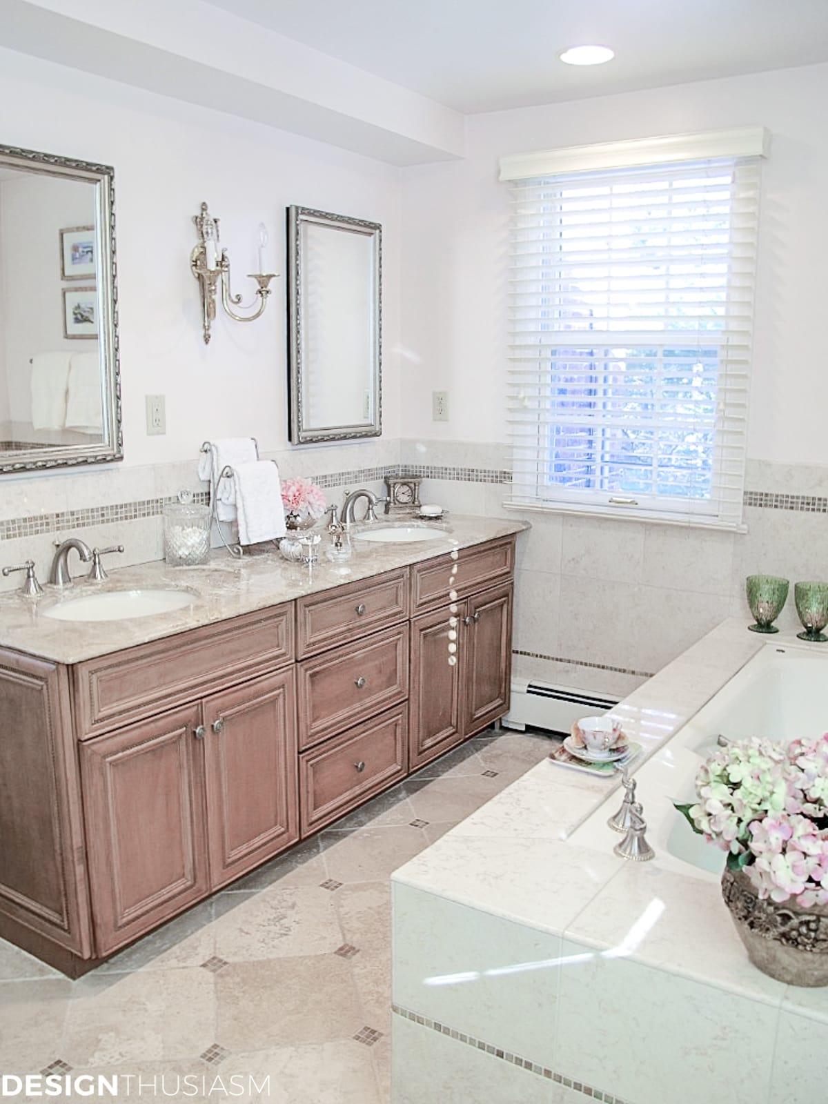 master bath remodel double vanity