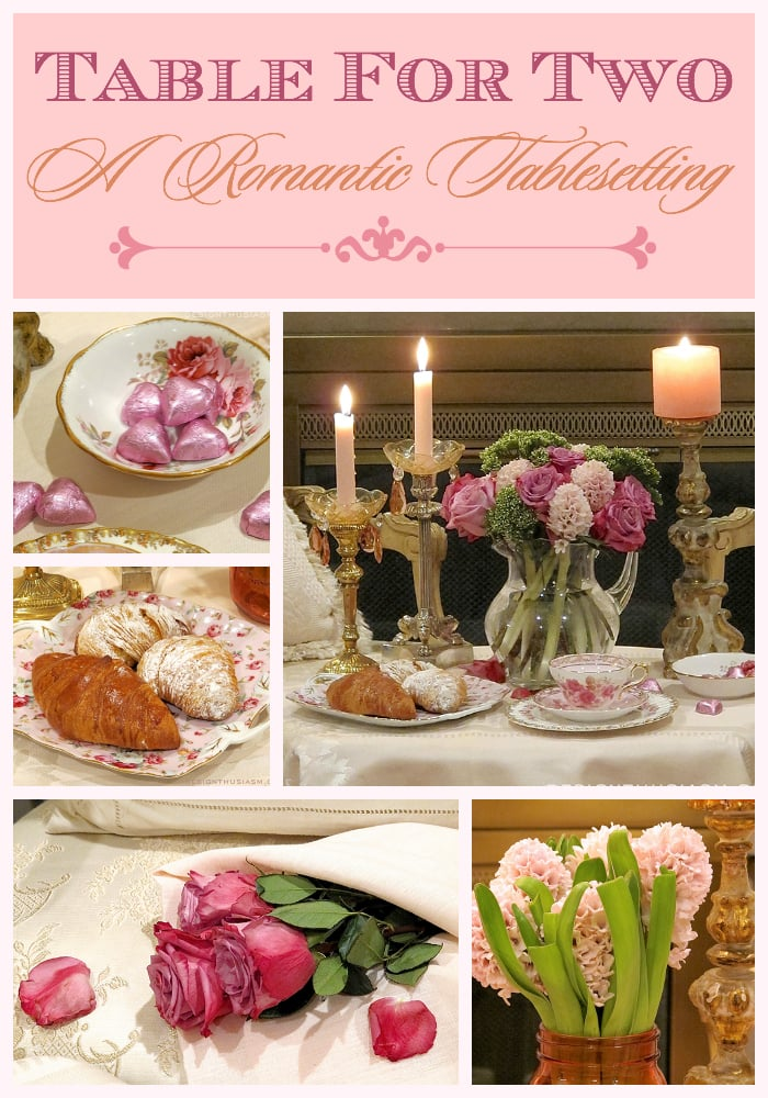 Table For Two - A Romantic Tablesetting