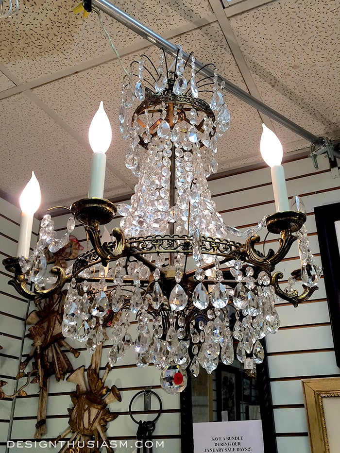 an Antique Chandelier