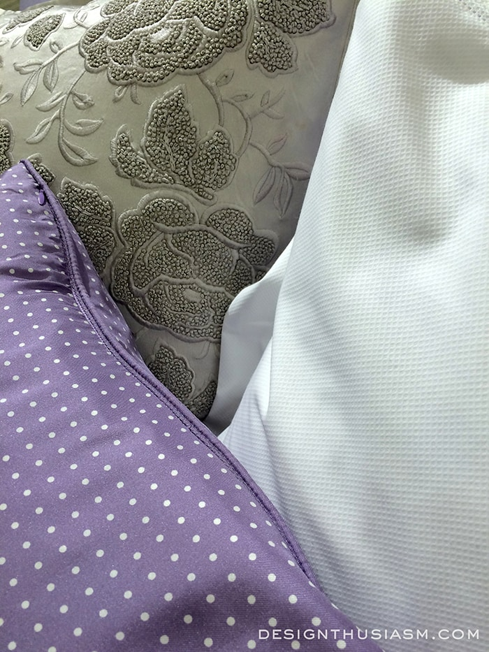 Mixing Menswear in a Lilac Bedroom