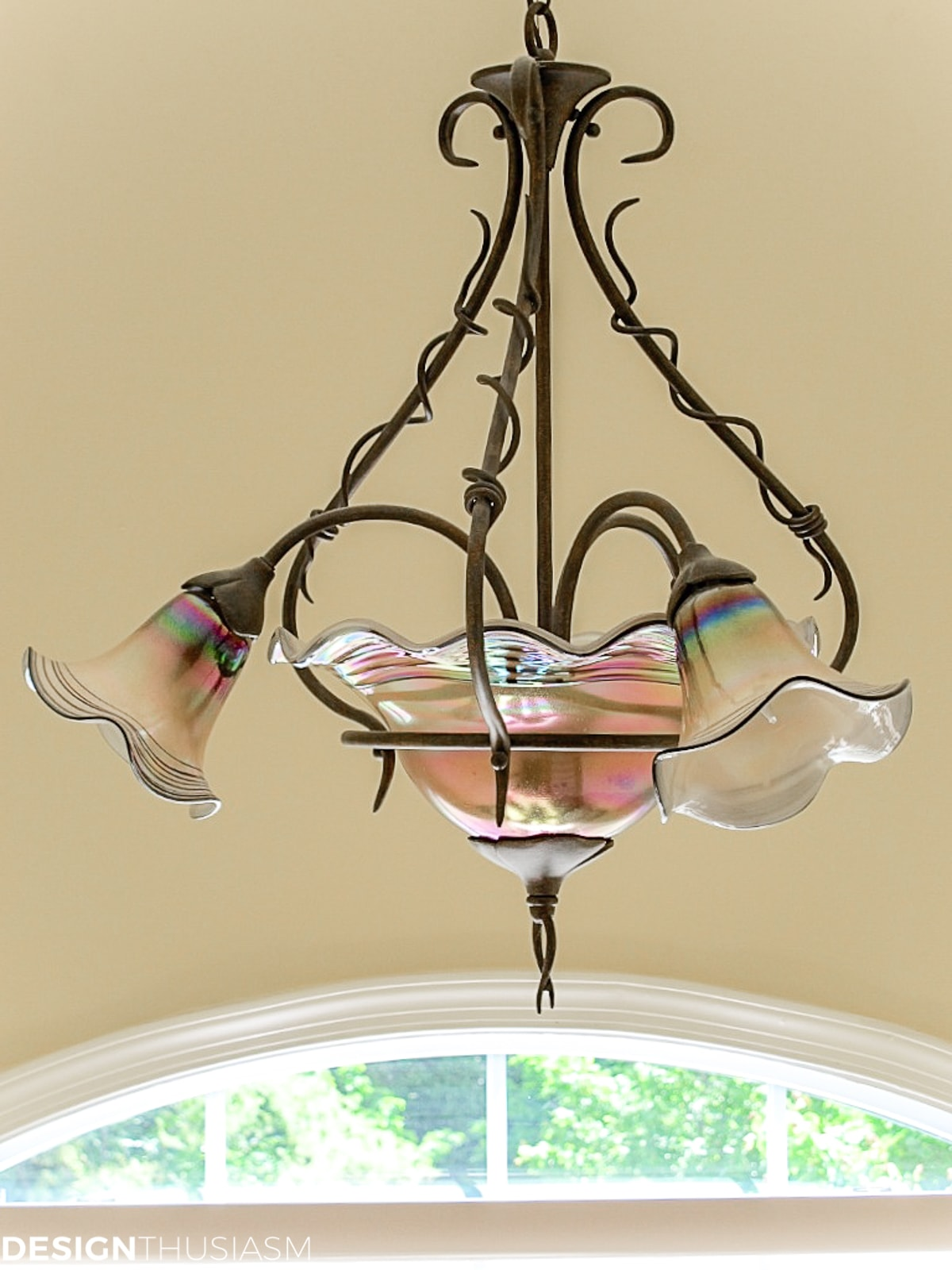 Staircase decorating ideas tulip fixture