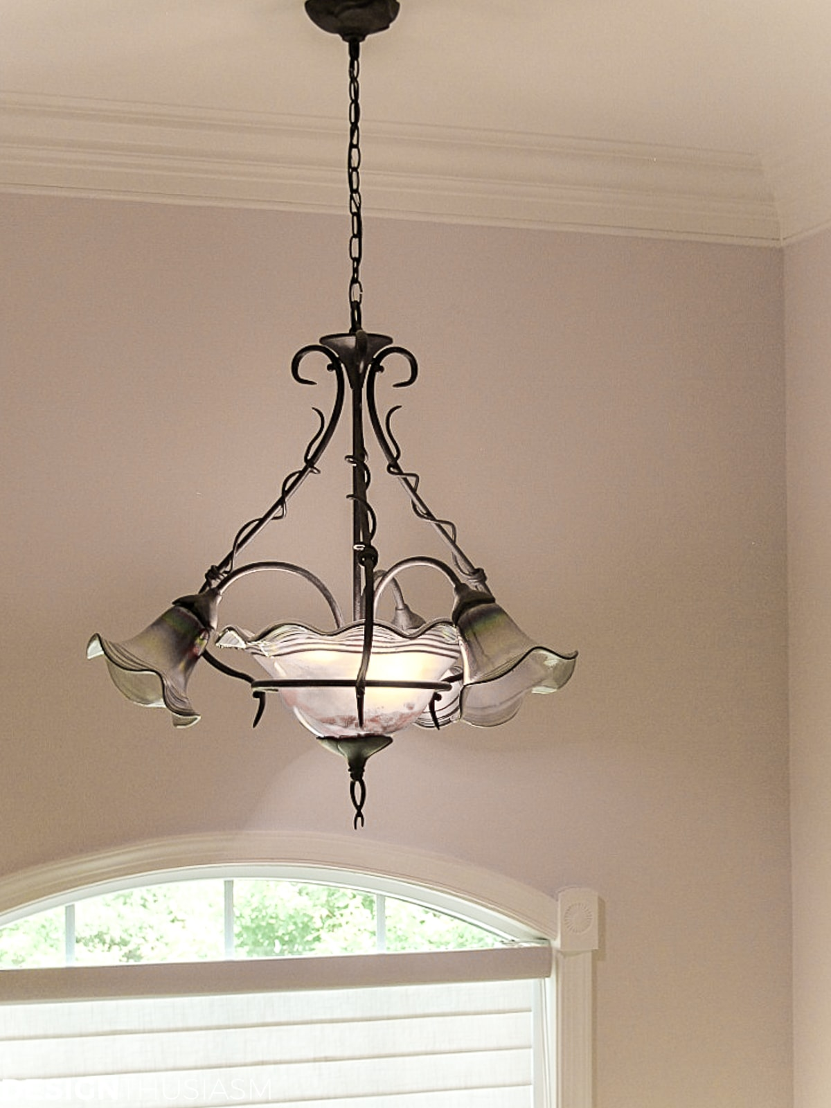 Staircase decorating ideas light fixture