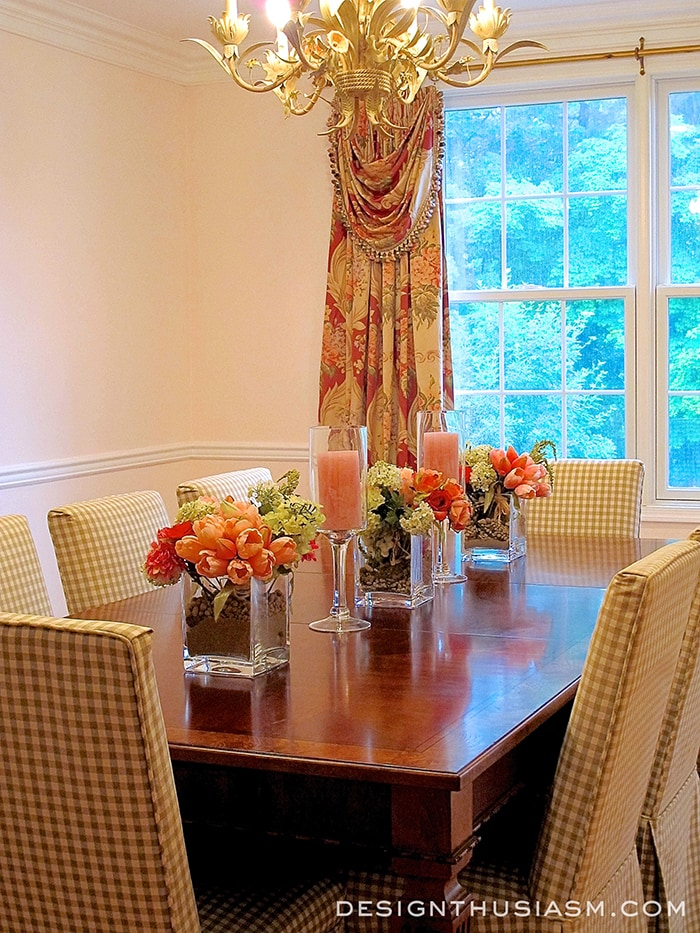 A Rosy Dining Room