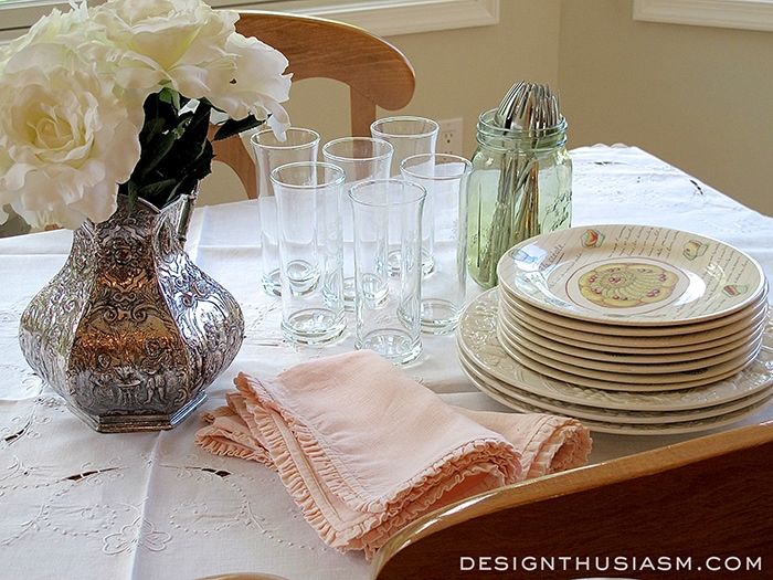 Breakfast Table Setting for Weekend Guests