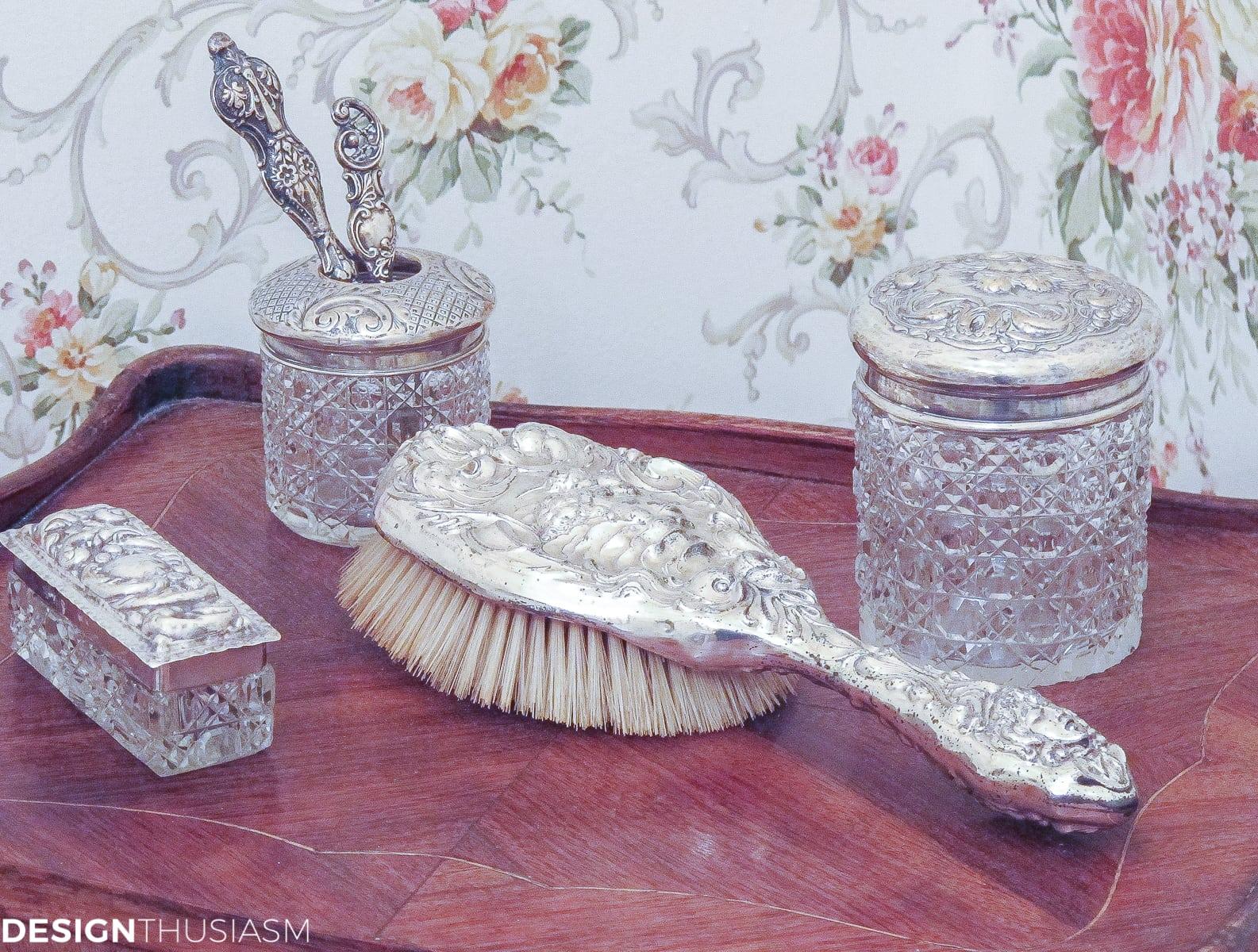 Transforming a Bland Powder Room into Lovely French Bathroom   Designthusiasm.com