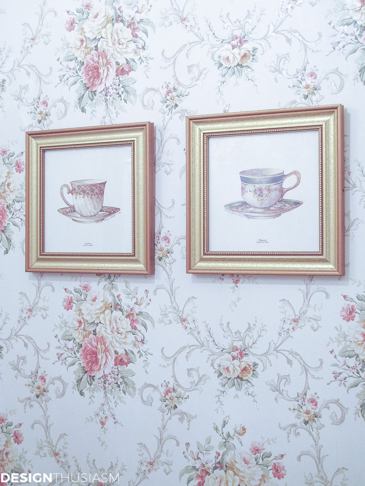 Transforming a Bland Powder Room into Lovely French Bathroom | Designthusiasm.com