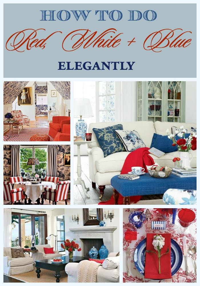 Elegant red, white and blue