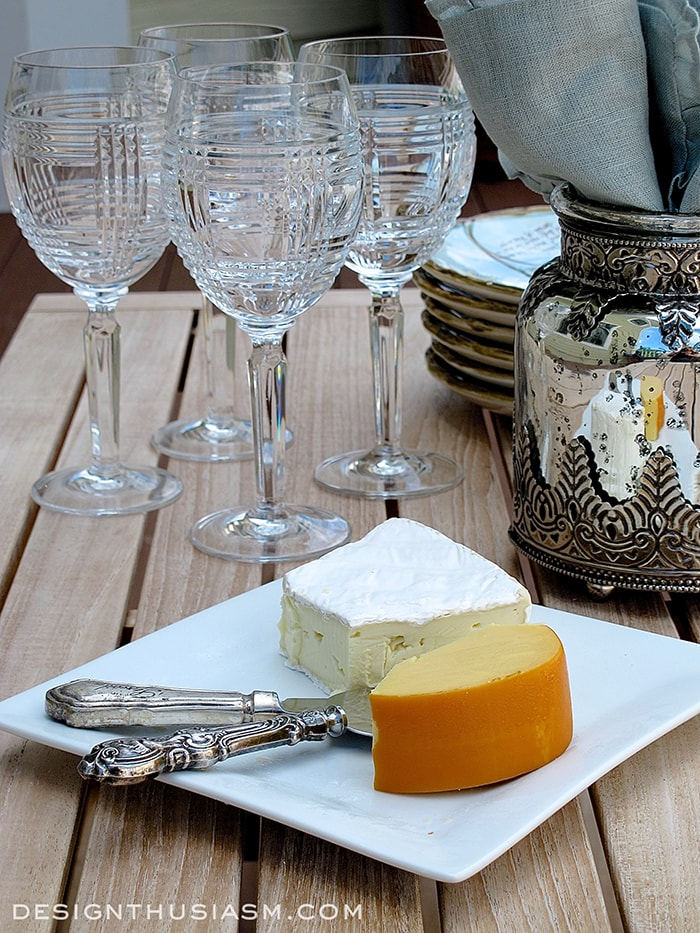 Casual Wine and Cheese on the Patio