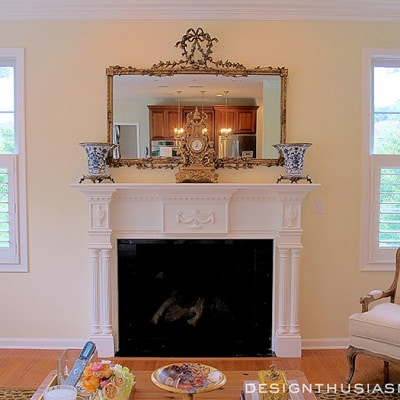 Transforming the Character of a Family Room with a New Fireplace Mantel