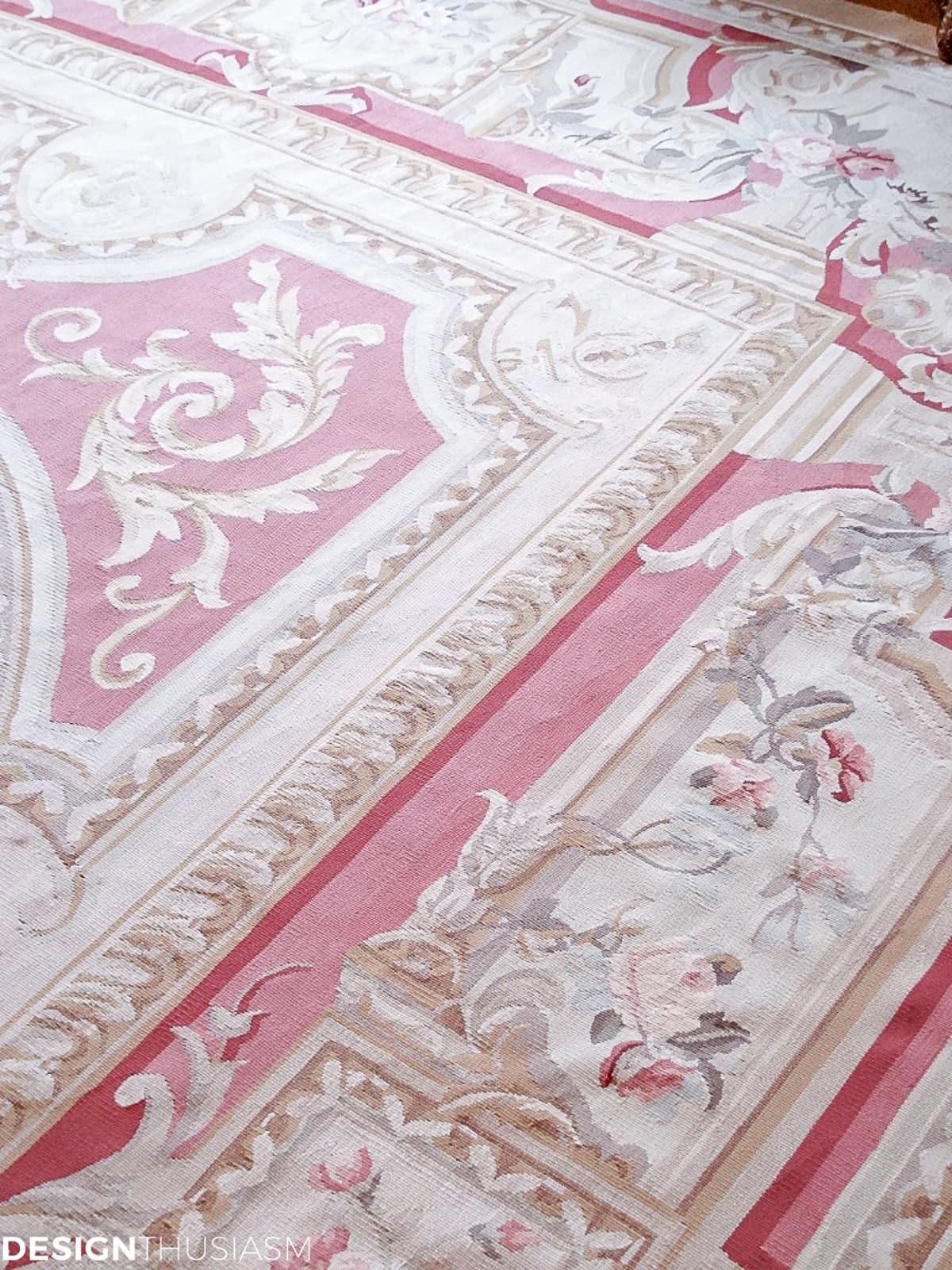 living room aubusson rug